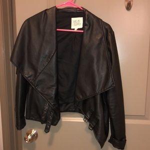 Jackets & Blazers - Faux Leather Motorcycle jacket